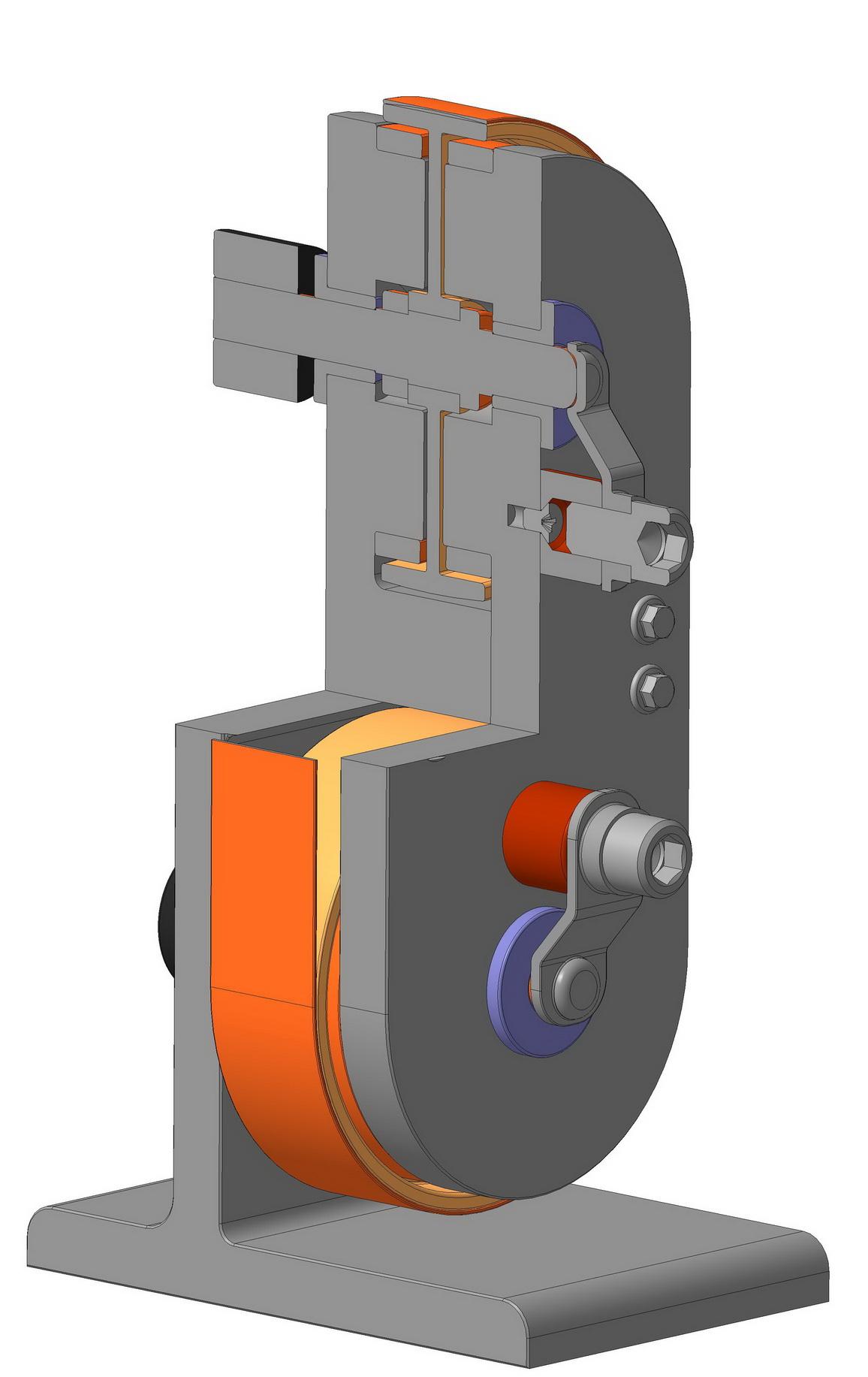 3D модель динамо электрической машины Н. Тесла. Униполярный генератор Тесла.