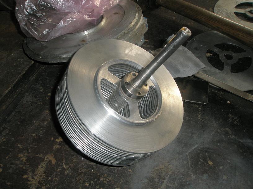Дисковый насос Тесла. Дисковый ротор с лабиринтным уплотнением.