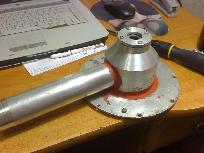Дисковый насос Тесла. Всасывающий патрубок - конструкция.