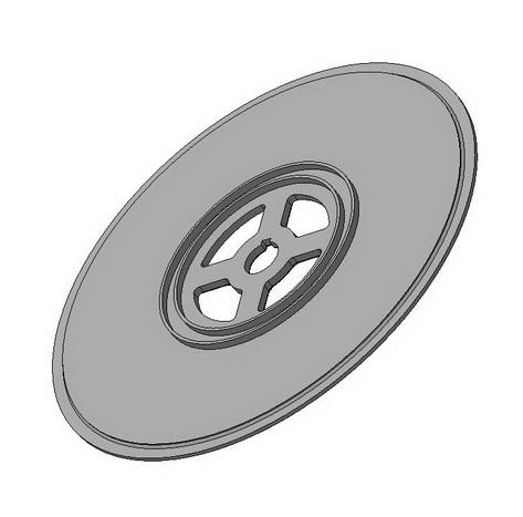 Диск боковой (крайний) турбины Тесла