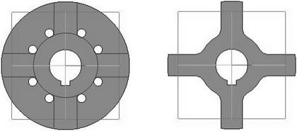 Крестообразная разделительная шайба для дисковой турбины Тесла