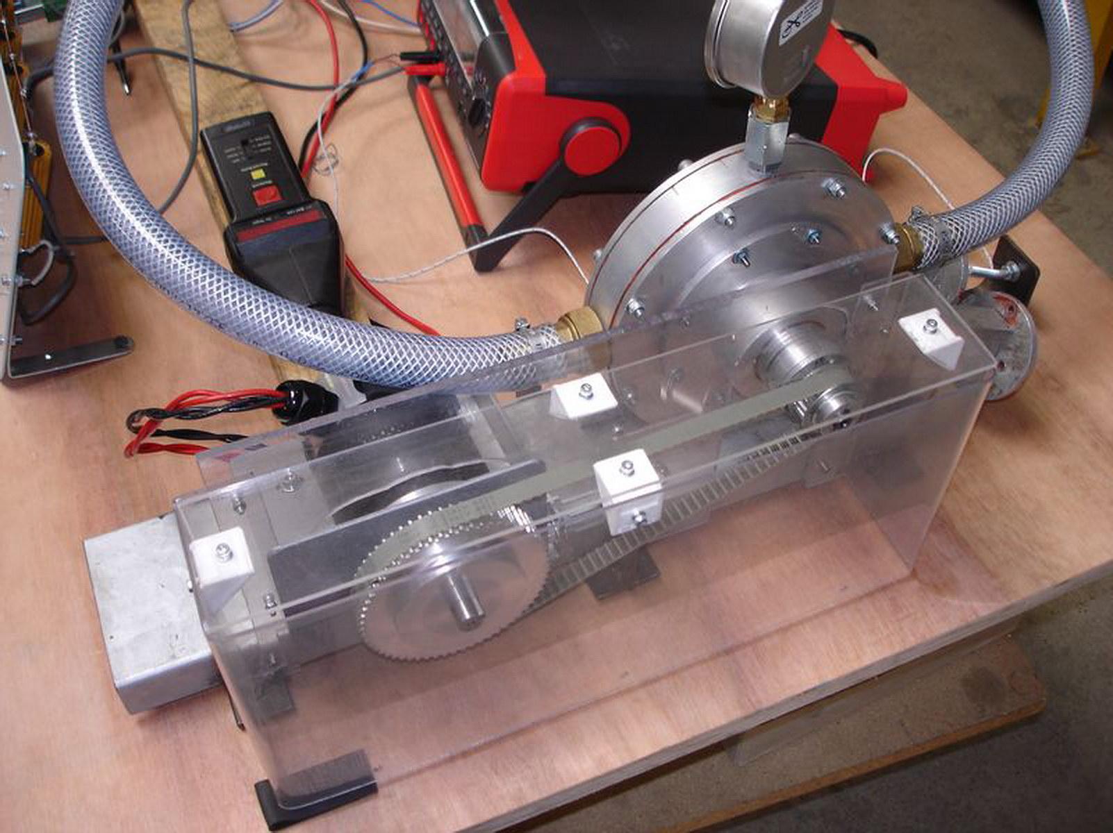 Испытательный стенд дисковой турбины Тесла.