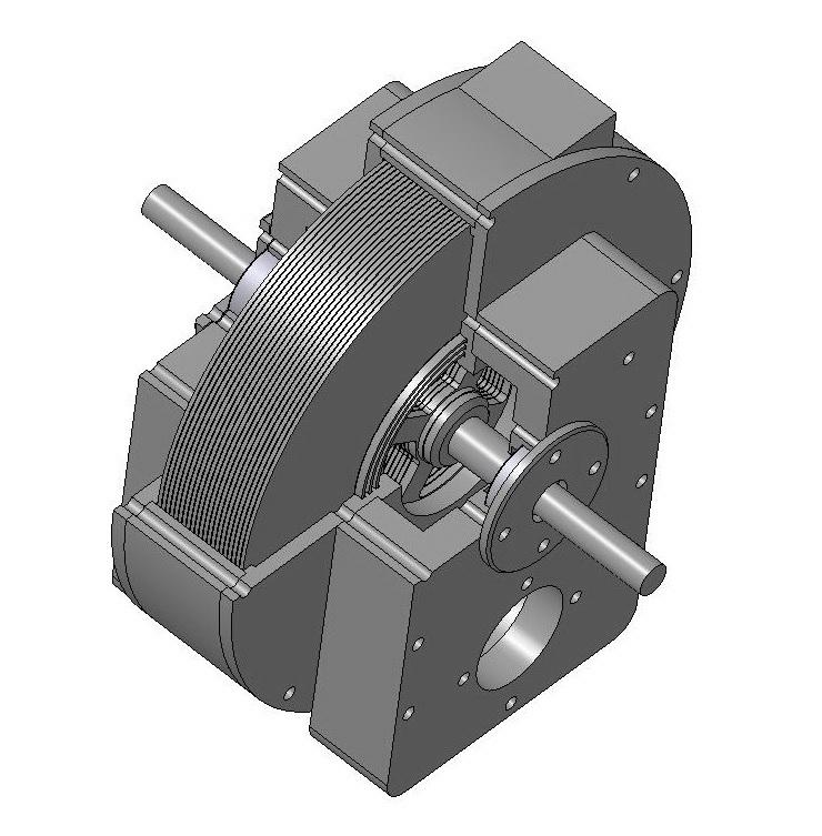 Турбина Тесла 3D модель.